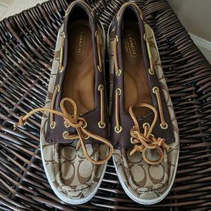 Coach boat shoes,size 8